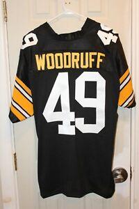 black Pittsburgh Steelers Dwayne Woodruff (49) 1982 / 50 Seasons stitched jersey
