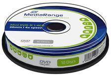 30 Mediarange Rohlinge DVD-R Mini 30Min 1,4GB 4x Spindel