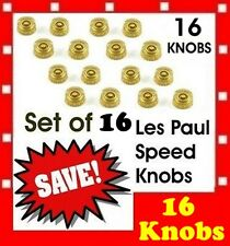 16 pcs ( Lot ) of GOLD gold speed knobs hatbox style for LP SG ES335 guitars  US