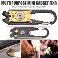 Outdoor EDC Survival Mini Pocket Multi Tool Key Ring Pendant Keychain Wrench SY