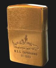 New listing Vintage Zippo Lighter - 1932 - 1989 - Uss Capodanno Ff-1093 - Navy - Solid Brass