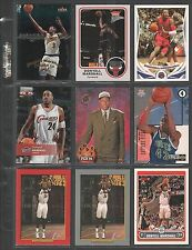 DONYELL MARSHALL ~Lot of (9) Different Basketball Cards w/ Display Sheet~ (L212)