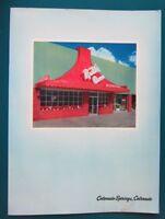 1960s Ruth's Oven Restaurant Menu, Colorado Springs, Colorado