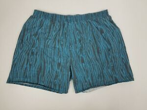 Vintage Men's Athletic Works Animal Print Athletic Shorts - Size XL - Blue