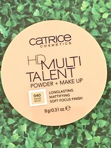 Catrice HD Multitalent Powder & Make Up, 010 Light Beige, Made in Germany.