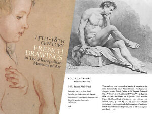 French School 1810 Fine Early Male Nude Red Chalk Drawing after Louis Lagrenee