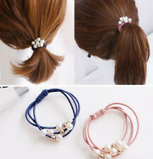 mix 5pc Fashion pearl rubber band hair ring for Charm bracelet hair accessory