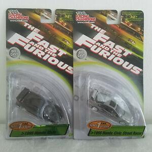 NIB 2 Racing Champions Fast & Furious - '95 Honda Civic & Civic Street Racer