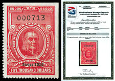 Scott R704 1956 $5000 Dated Red Documentary Revenue Graded XF 90J with PSE CERT!