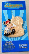 Disney Pin 100298 NEW DCA LE2500 Annual Passholder with Mickey Mouse