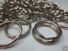 "Lot 100 pc 3/4"" (21mm) Split Rings /Gift Craft Key Rings/Keyrings /Free Shipping"