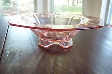 Depression Pink Imperial Glass Footed Fruit or Console Bowl