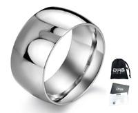 Anello doppio in acciaio con incisione Fascia Uomo Donna Unisex Regalo lucido