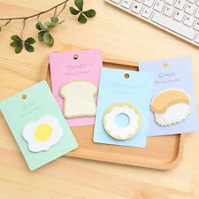 Doughnut Egg Toast Sushi Shaped Self-Stick Notes Memo Scratch Pads 30 Pages