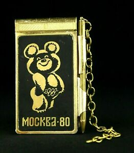 Olympic Games MOSCOW 1980 Collectible Vintage Notebook Bear MISHA Souvenir USSR☭