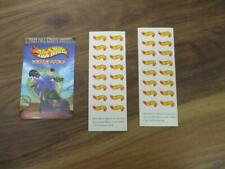 HOT WHEELS ADVERTISING BROCHURE AND 1 INCH STICKERS
