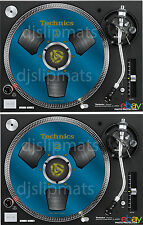 PAIR (2) Ltd.Ed Technics Japan Reel to Reel RS-1700 DJ Slipmats slipmat BLUE