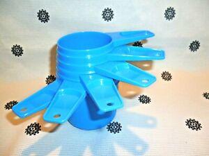 New Tupperware Bake 2 Basics Measuring Cups Set of 6 Blue