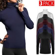 Maglione Donna Caldo 3 PACK Lupetto Termico Dolcevita Collo Alto Felpato VEQUE