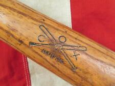 "Vintage 1930s Cox Wood Professional Baseball Bat Memphis,Tennessee 33"" Antique"