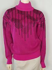 TYROLIA by HEAD beautiful Vintage dark pink and black sweater size medium