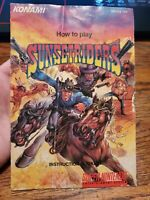 Sunset Riders Super Nintendo Instruction Booklet - (SNES, 1991) MANUAL Only