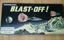 Blast-Off Vintage Space Travel Game John Waddington Games 1969 Complete