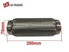 70 x 250 Exhaust flexible flexi repair pipe Joint Flexipipe Tube Joiner