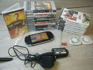 SONY PSP SLIM SERIES 3003 BUNDLE CONSOLE CHARGER AND 20 GAMES/UMDS