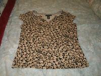 Apostrophe ladies gold & black knit top size large