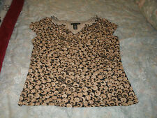 Apostrophe ladies gold & black knit top size large