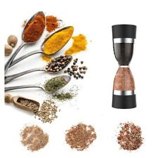 More details for 2in1 black and silver classy salt & pepper grinder mill coarse manual grinding