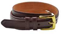 "Mens 1"" (25mm) Genuine Leather Lined Trouser - Suit Belt - Black - Grey - Navy"