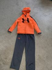 Boys Under Armour Zip Up Hoddie & Sweatpants Size 4
