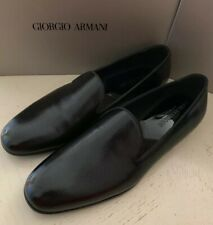 930933e66ecc93 New  795 Giorgio Armani Men Leather Loafers Shoes Black 11 US X2J007