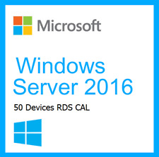 WINDOWS SERVER 2016 Remote Desktop Service RDS 50 Device/ User CAL