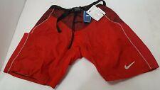 NIKE Quest Senior M Medium Red Ice Hockey Player Pad Shell Pants Shorts *Defect*