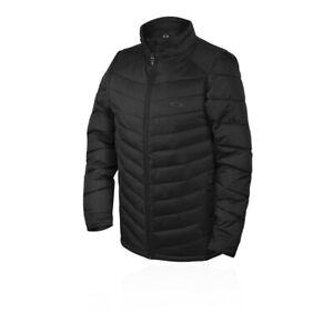 Oakley Mens Bergen Jacket Top Black Sports Outdoors Full Zip Warm Breathable