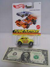 Hot Wheels Yellow VW Volkswagen Beetle - Flying Customs - 2012