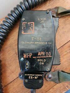Vintage US Army Vietnam Era Tank Crew Chest Radio(T-51 Military Field Phone) 1