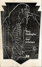 RS#110P02 RORY GALLAGHER LIVE IN EUROPE ALBUM ADVERT 15X10 POLYDOR