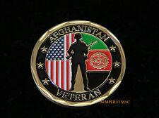 US AFGHANISTAN VETERAN CHALLENGE COIN USAF ARMY USN USMC USCG USA GIFT WOW!!