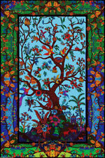 """3D COLORFUL TREE OF LIFE Tapestry/Wall Hanging 60""""x90"""" FREE 3D GLASSES!"""
