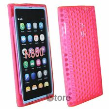 Cover Custodia Per Nokia Lumia 800 Fucsia Silicone Gel TPU + Pellicola Display