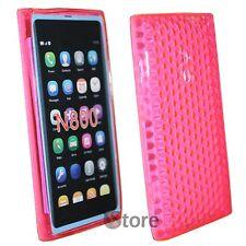 Cover Custodia Per Nokia Lumia 800 Fucsia Silicone Gel TPU silicone