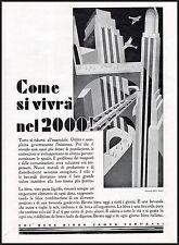 PUBBLICITA' 1930 CHI BEVE BIRRA CAMPA 100 ANNI PROPAGANDA ITALIANA FUTURISMO BAR