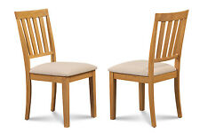SET OF 2 DINETTE KITCHEN DINING SIDE CHAIR WITH  SOFT-PADDED SEAT IN OAK FINISH