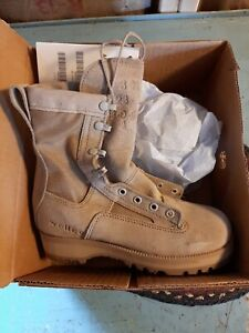 NEW Army Desert Temperate Weather Work Combat Boots Military Wellco Tan 3N