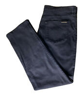 Burberry Mens Chino Trouser Pant BURBERRY BRIT StraightFit Cotton Black 38 R