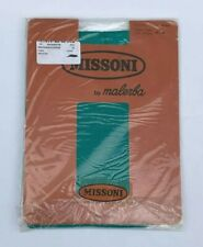 VINTAGE MISSONI BY MALERBA GREEN CALZE TIGHTS PANTYHOSE NEW IN PACKAGING SIZE M
